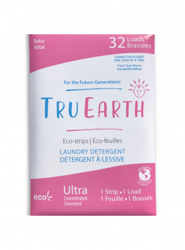 TRU EARTH ECO-STRIPS LAUNDRY DETERGENT Baby (Pink)