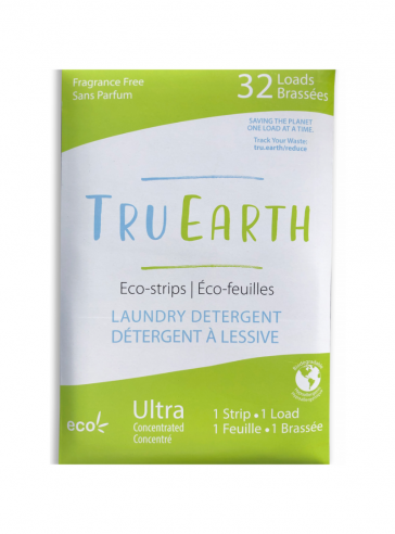TRU EARTH ECO-STRIPS LAUNDRY DETERGENT Fragrance-Free (Green)