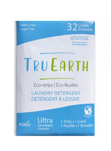 TRU EARTH ECO-STRIPS LAUNDRY DETERGENTFresh Linen (Blue)