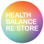 HEALTH BALANCE RE.STORE Logo_( Arial Rounded MT Bold) White